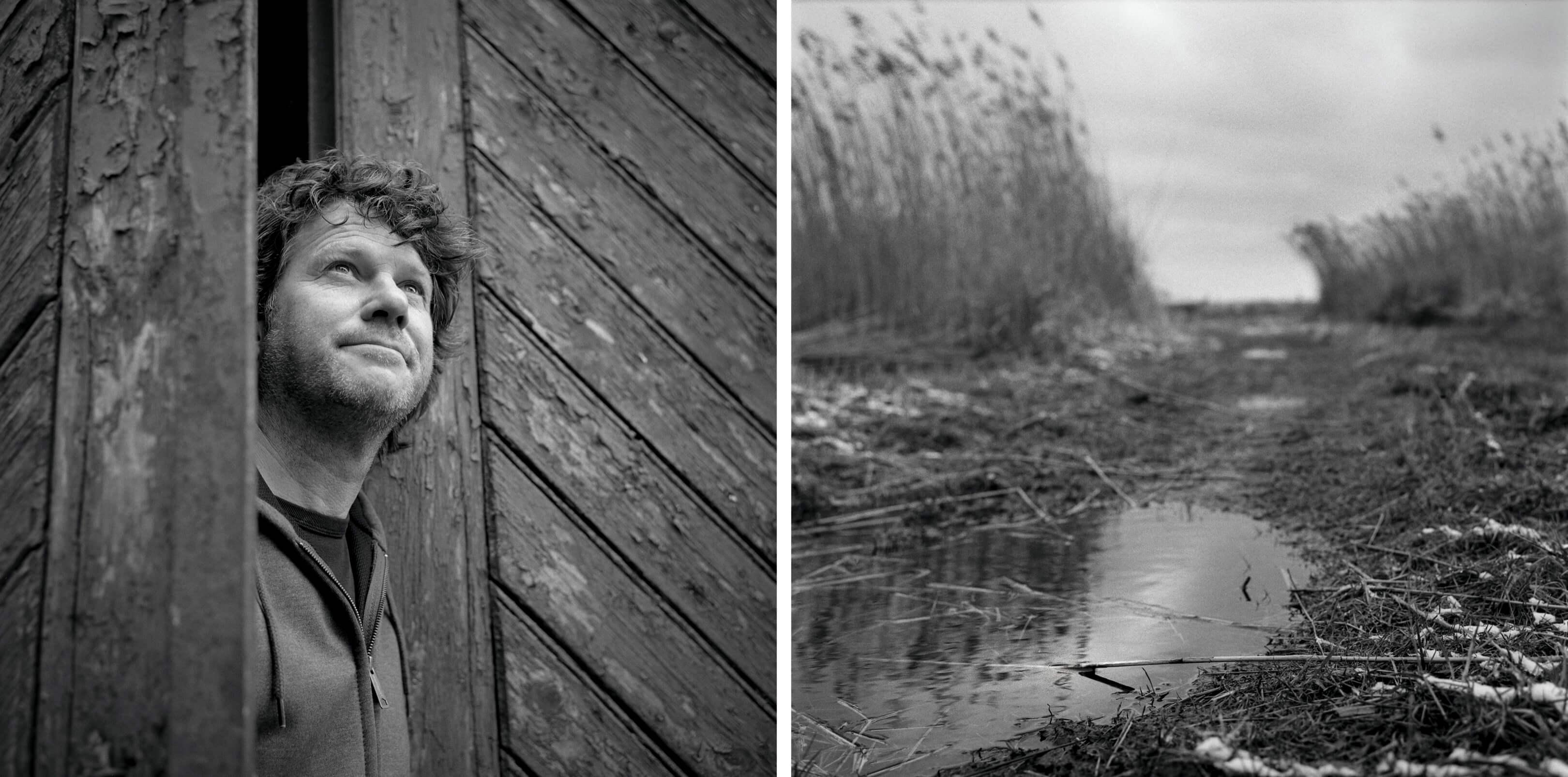 Jurjen Poeles Fotografie Jur portret landschap fragment adempauze windstil staren in de stilte ademloos zwart wit zw kunst kunstfotografie Jelle