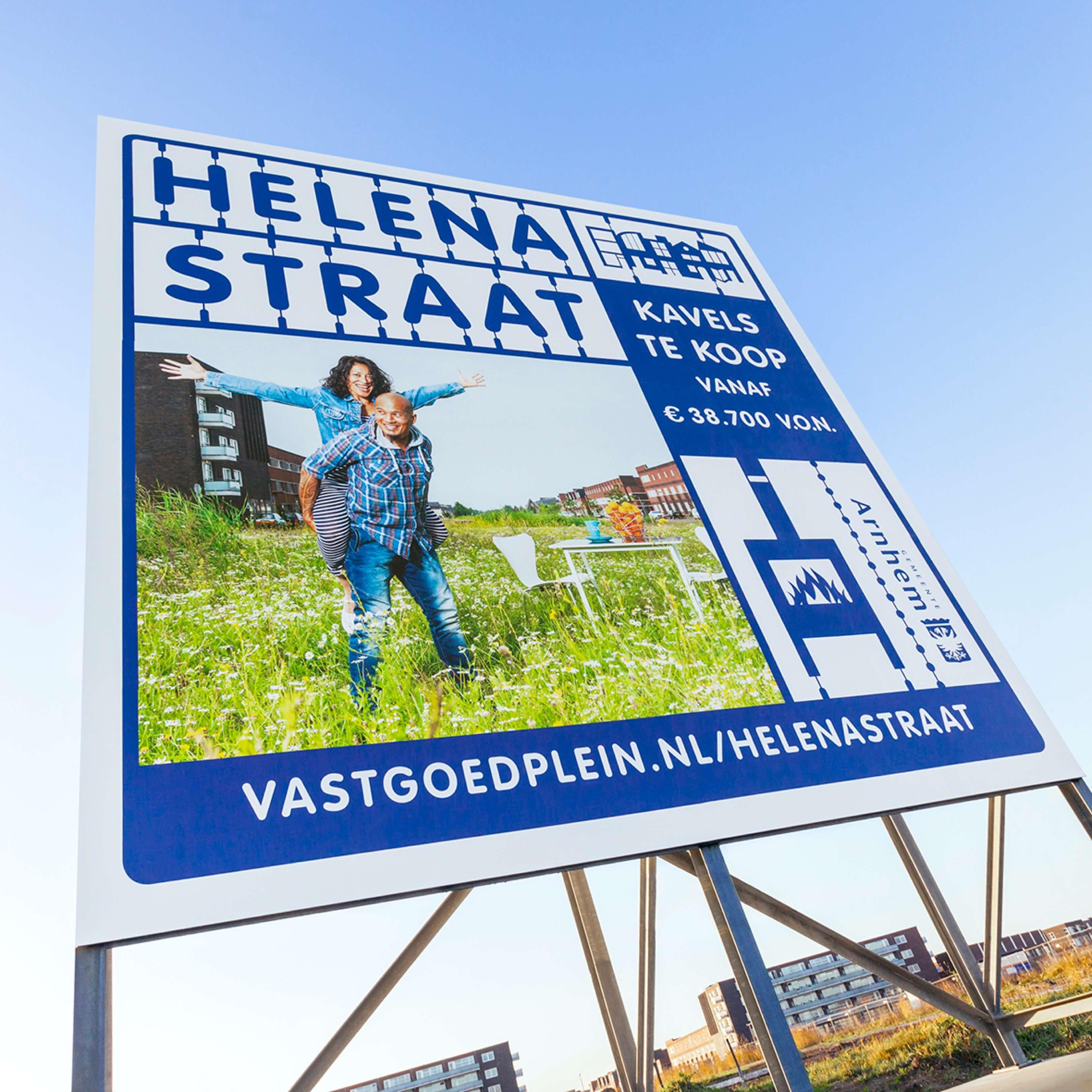 Jurjen Poeles Fotografie billboard Helenastraat gemeente Arnhem Vastgoedplein Schuytgraaf vastgoed vastgoedproject lifestyle grootformaat