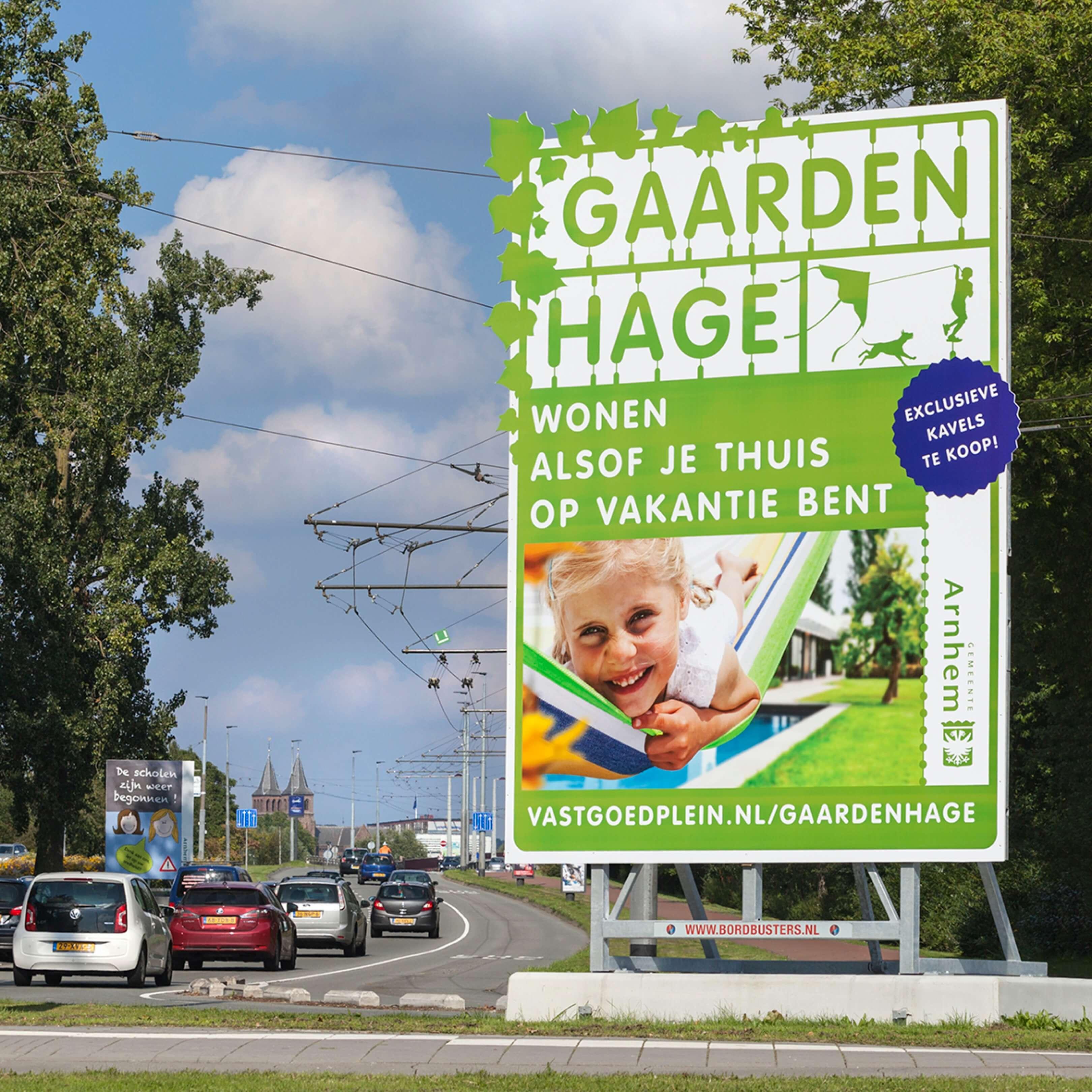 Jurjen Poeles Fotografie billboard Gaardenhage gemeente Arnhem Vastgoedplein vastgoed vastgoedproject lifestyle grootformaat
