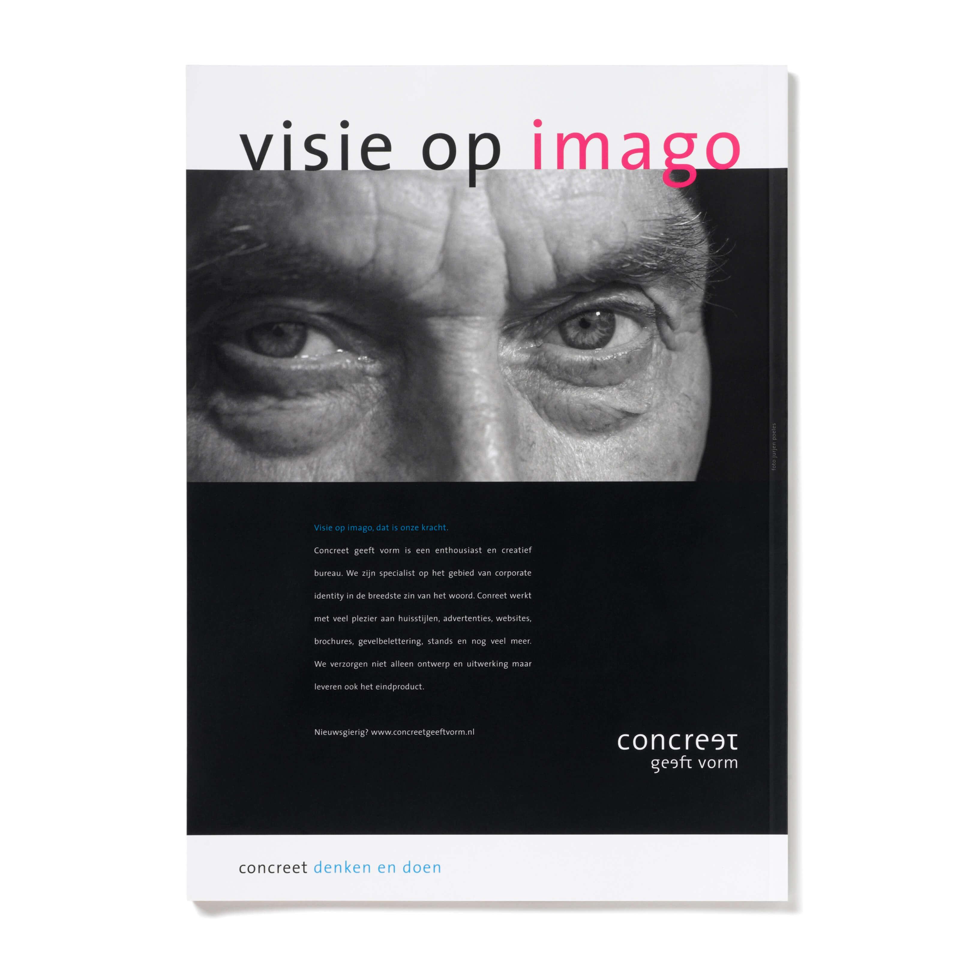Jurjen Poeles Fotografie advertentie Concreet geeft vorm portret gezicht Amersfoort