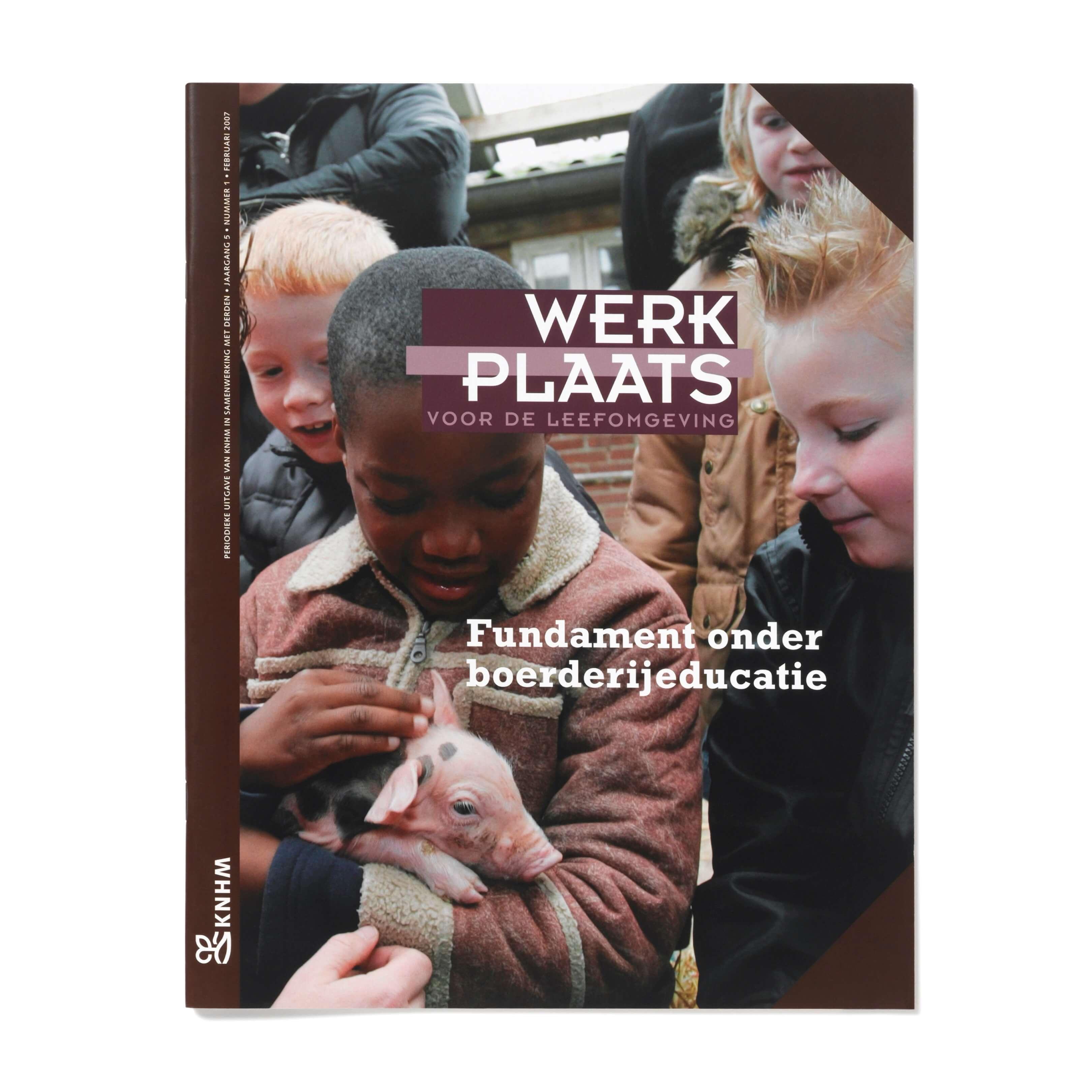 Jurjen Poeles Fotografie magazine cover Werkplaats KNHM educatie boerderij kinderen