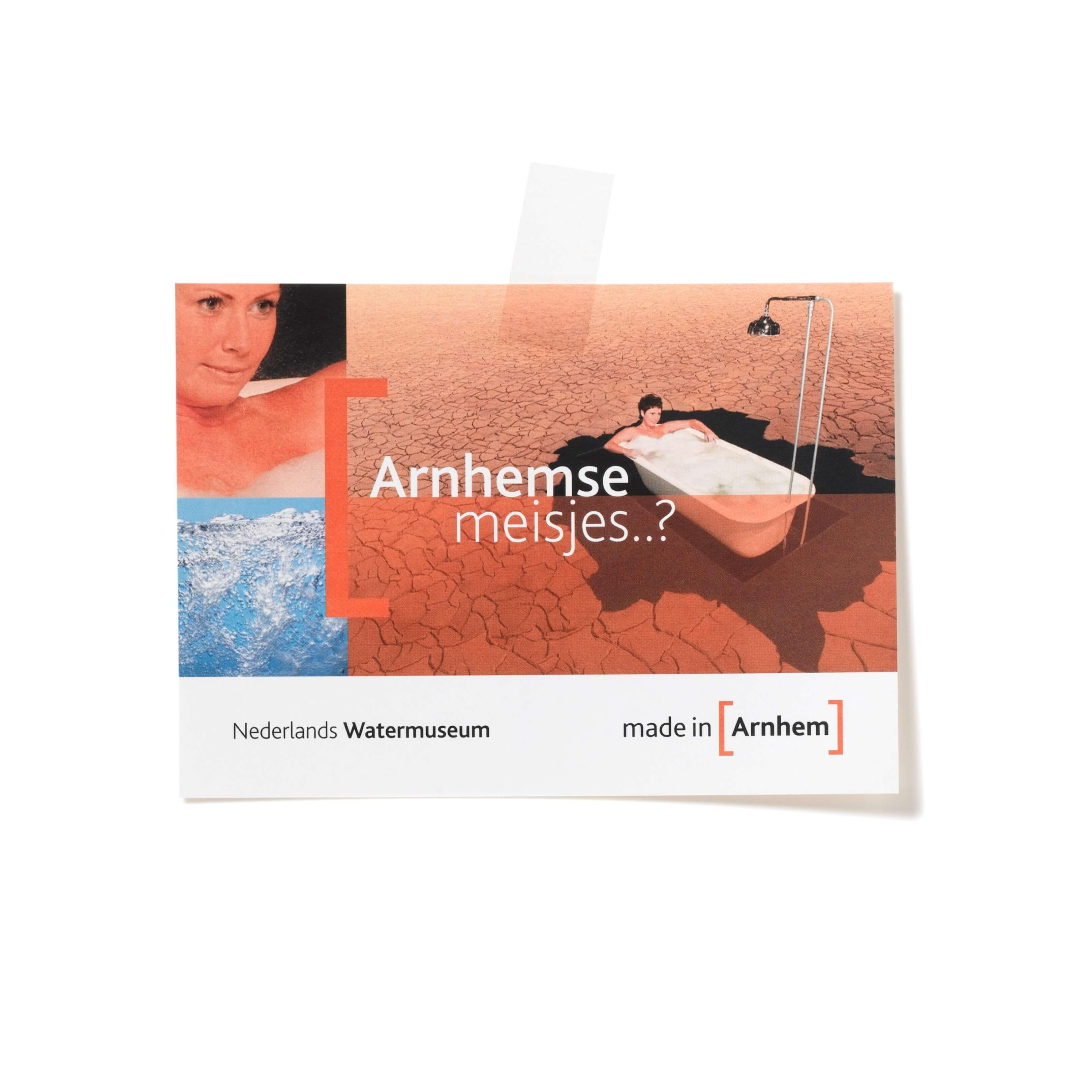 Jurjen Poeles fotografieBoomerang kaart campagne Made in Arnhem Nederlands Watermuseum reclame