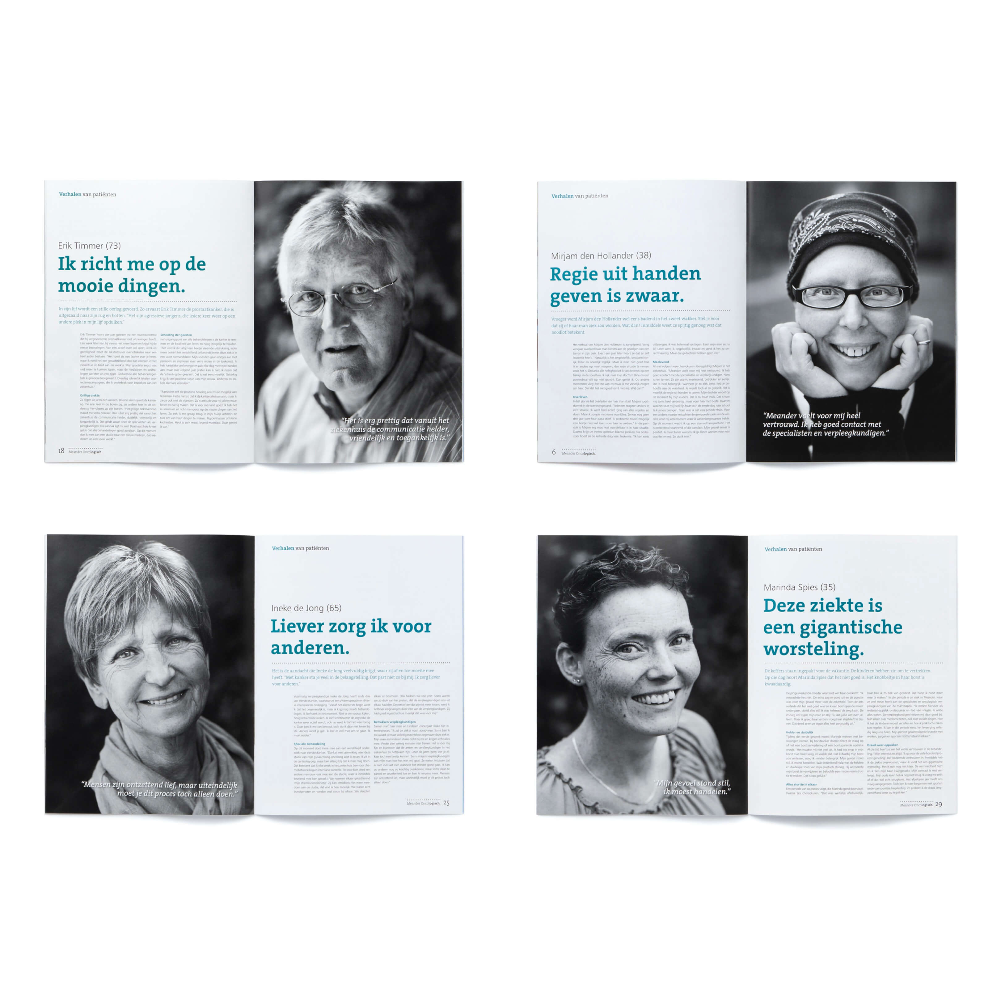 Jurjen Poeles Fotografie cover magazine Oncologisch Concreet Meander Medisch Centrum Amersfoort portret patient zwart wit