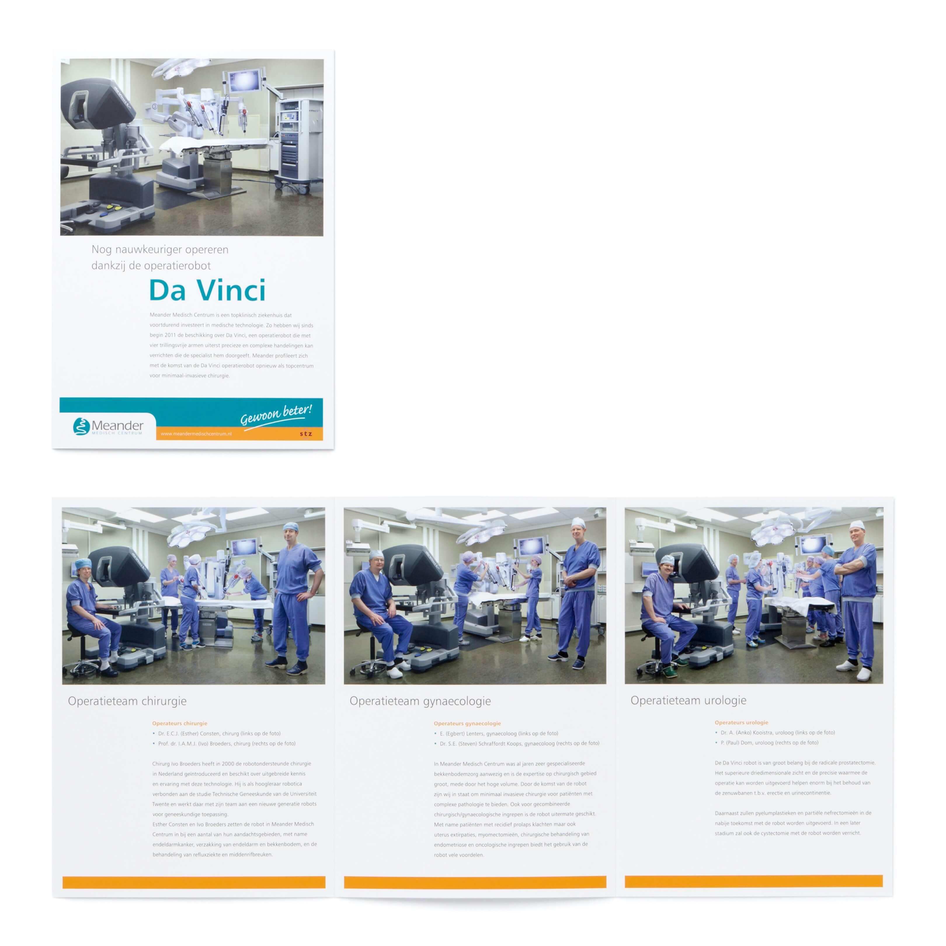 Jurjen Poeles Fotografie brochure robotchirurgie Concreet geeft vorm Meander Medisch Centrum Amersfoort operatie robot team chirurg