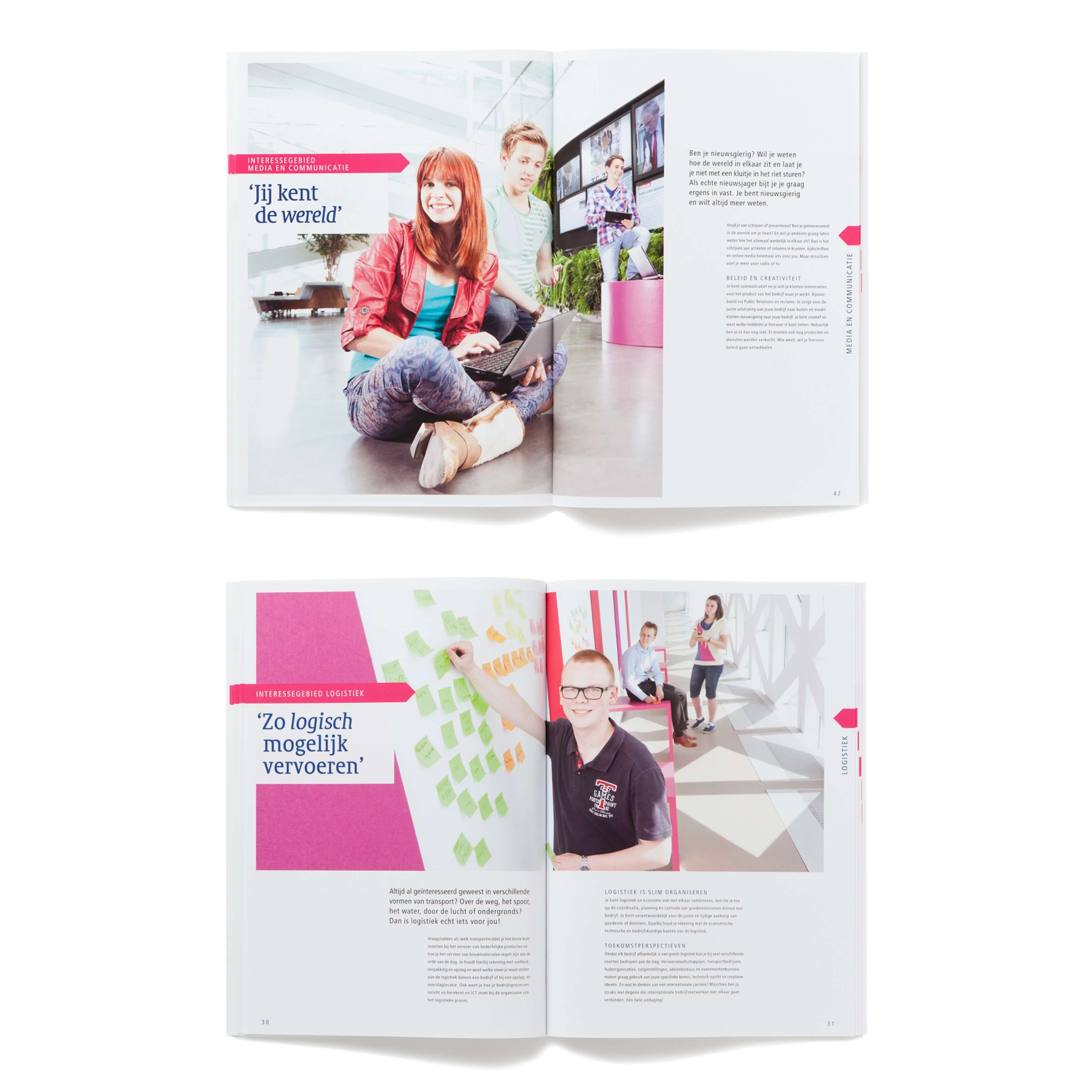 Jurjen Poeles Fotografie opleidingsbrochures opleiding brochure Hogeschool Windesheim Zwolle student leerling studie sport school educatie