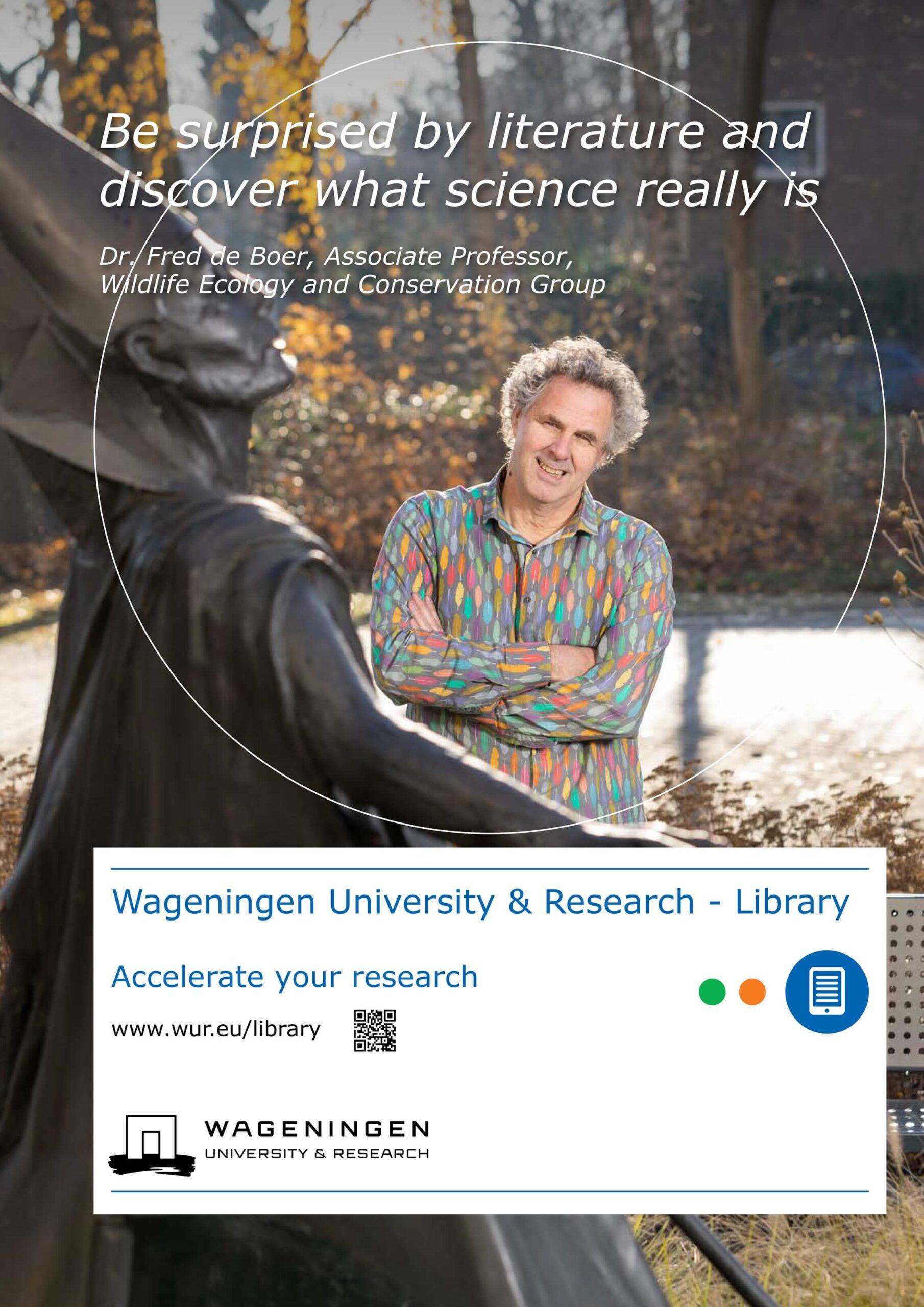 portret professor Poeles Fotografie campagne beelden Wageningen University & Research Library locatie universiteit bibliotheek testimonial WUR
