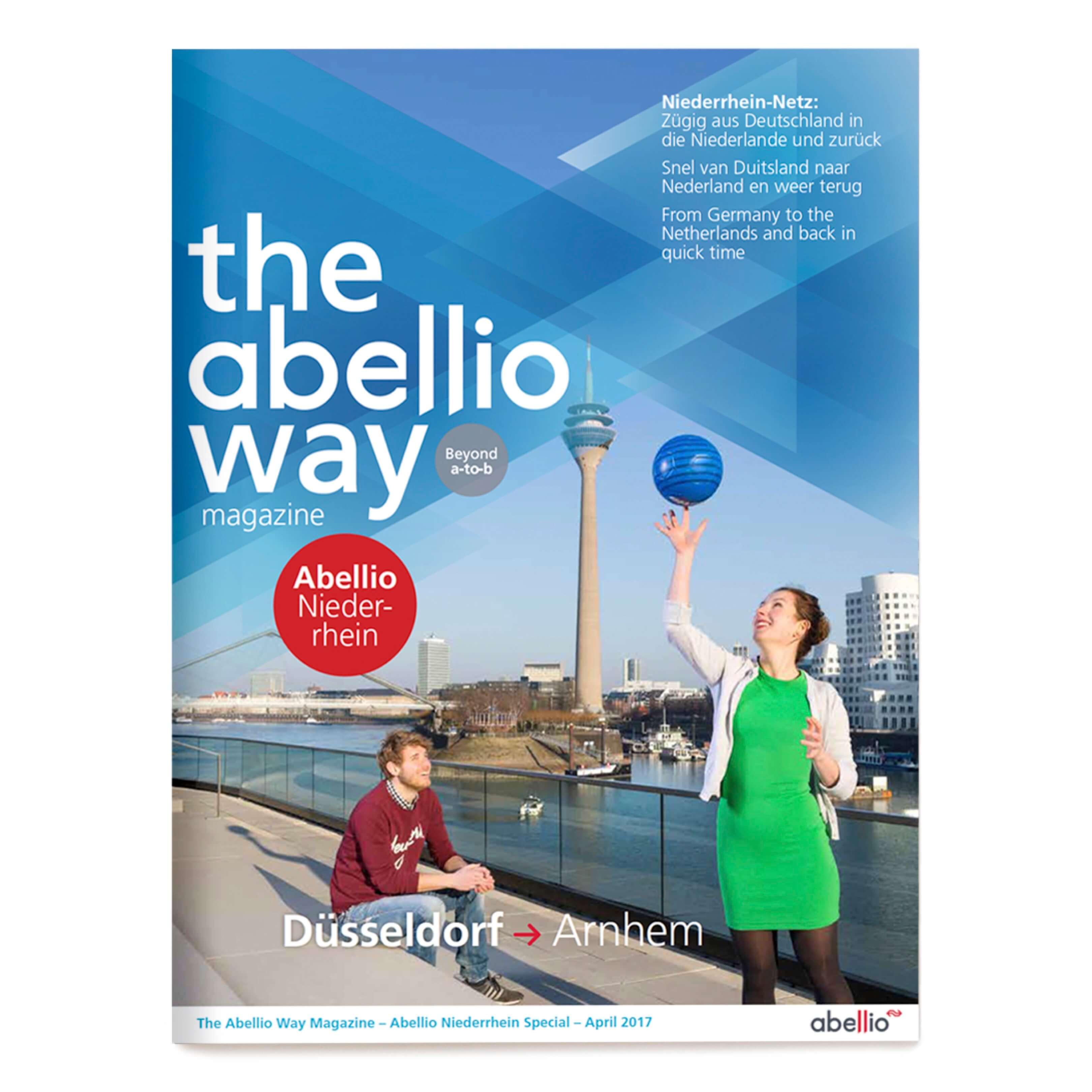 Jurjen Poeles fotografie Gloedcommunicatie gloed communicatie Abellio cover magazine the Abellio way trein spoorwegen station Dusseldorf jong koppel