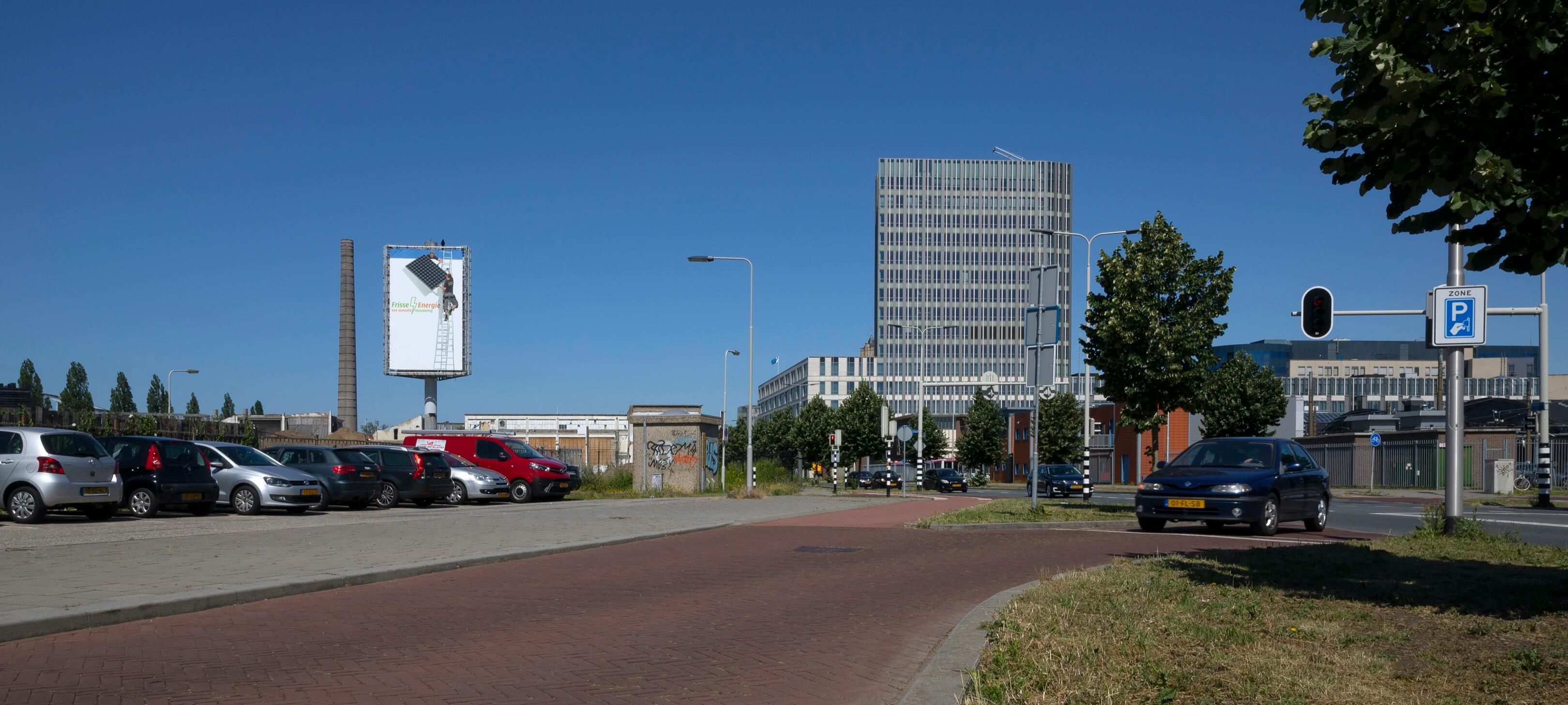 Jurjen Poeles Fotografie billboard Frisse Energie grootformaat print reclame campagne zonnepanelen at work aan het werk in uitvoering